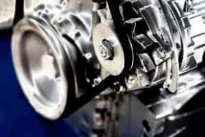 40265350 - close up of transmission belt on car engine
